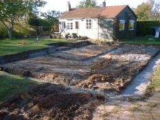 Foundations of new house