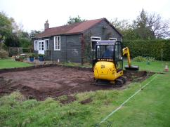 The foundations for the new house